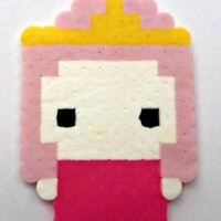 Bubblegum Princess Perler (Adventure Time) from Little House of Crafting