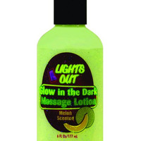 Lights Out Glow In The Dark Massage Lotion - 6 Oz Bottle Melon