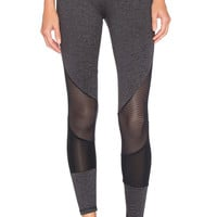 Lanston Sport Mesh Combo Legging in Grey