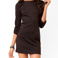 Buttoned 3/4 Sleeve Dress