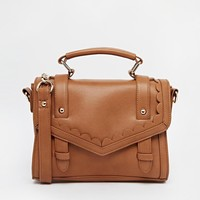 Scallop Trim Satchel Bag