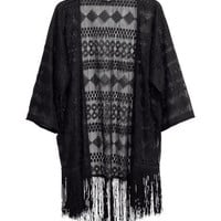 Lace kimono-style cardigan - from H&M