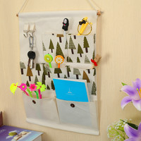 Cotton Linen Bags Wall Mounting Storage Hook Hanger [6377498308]