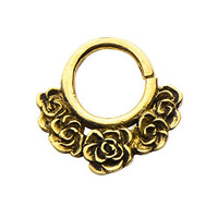 Casted Yellow Brass Rosa Septum Jewelry