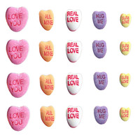 Valentine's Day // Candy Heart // Valentine // Holidays // Winter Nail Decals Transfer Nail Stickers //