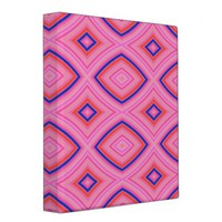 Pretty Geometric in Mostly Pink 3 Ring Binder