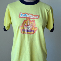 70's Vintage T Shirt Josie and The Pussycats  Yellow Ringer Tee