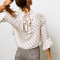 Don't Ask Why Tie Back Top, Cream