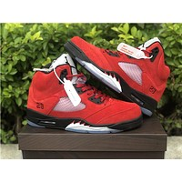 "Vip Air Jordan 5 ""Raging Bull"" Red color"