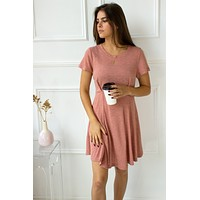 Rose Glow Tee Shirt Dress