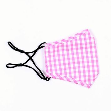 Large Gingham Mask by Pink Pineapple