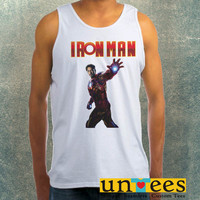Robert Downey Jr Iron Man Clothing Tank Top For Mens
