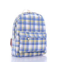 Plaid Korean Fashion Backpack = 4887895620