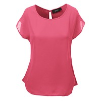 Loose Fit Short Sleeve Chiffon Blouse Top (CLEARANCE)