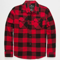 Shouthouse Lancaster Boys Flannel Shirt Red  In Sizes