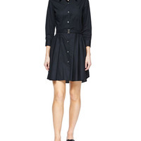 Theory Jalyis Sunny Belted Shirtdress