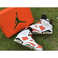 "Air Jordan 6 ""Gatorade"" White Orange Sneaker 36-47"