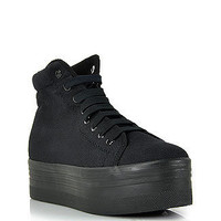 Jeffrey Campbell - HOmg - Black Canvas Platform Sneaker