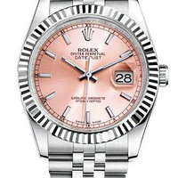 Rolex Popular Trend New Dial Women Men Metal Wristwatch Watch