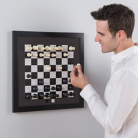 The Magnetic Wall-Hanging Chess Board