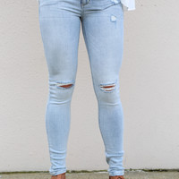 L.A. Nights Distressed Skinnies