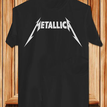 Metallica TShirt Tee Shirts Black and White For Men and Women Unisex Size