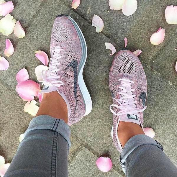 Image of Nike Flyknit Racer Rainbow Casual Running Sport Shoes Sneakers