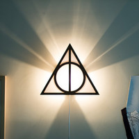 Harry Potter Deathly Hallows wall sconce