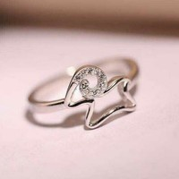 Gift Jewelry New Arrival Shiny Stylish 925 Silver High Quality Korean Accessory Ring [7587129863]
