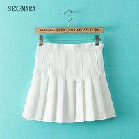SEXEMARA New tennis skorts women girl badminton skirt ladies tennis sport skirts solid color 1pc