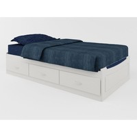 Ameriwood Mates Twin-Size Storage Bed in White with Colored Panel-5823015PCOM - The Home Depot