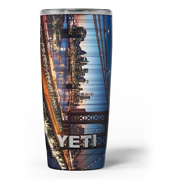 Brooklyn Glimpse - Skin Decal Vinyl Wrap Kit compatible with the Yeti Rambler Cooler Tumbler Cups