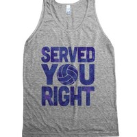 Served You Right (Tank, Blue)-Unisex Athletic Grey Tank