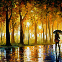 Bewitched Park - oil painting by Leonid Afremov
