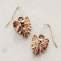 Rosegold Elephant Drops by Moss Mills Rose Gold One Size Earrings