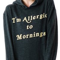 Wildfox Couture Morning Allergies Pullover Hoodie Black