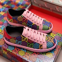 Gucci Spring and summer 2020 new women's shoes jumping sugar casual shoes pink