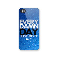 New Rare Nike Every Damn Day Water Drop Print On Hard Case For iPhone 6s 6s plus