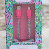 Lilly Pulitzer USB Charging Cord - Hot Spot