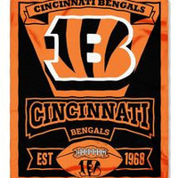 Cincinnati Bengals 50x60 Fleece Blanket - Marque Design