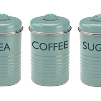 Summerhouse Canisters, Blue, Set of 3, Cooking Utensils & Holders