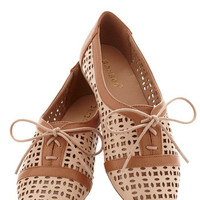 ModCloth Menswear Inspired Porch Edition Flat in Beige