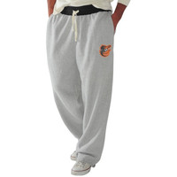 Baltimore Orioles Forward Pass Fleece Pants - Ash/Black