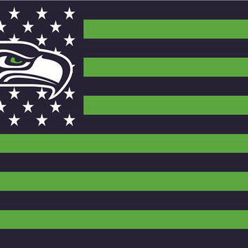 USA Seattle Seahawks 3ft x 5ft Banner Free Shipping