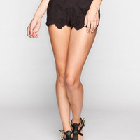 Patrons Of Peace Womens Eyelet Shorts Black  In Sizes