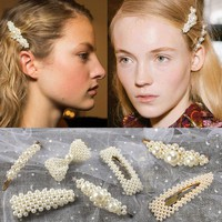 Pearl Barrettes with Bowknot for Women Ladies Elegant Jewelry Hairgrips Valentine's Day Hair Pins Hair Accessories ON SALE