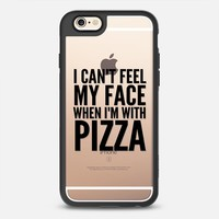 I Can't Feel My Face When I'm With Pizza (Transparent & Black) iPhone 6s case by CreativeAngel | Casetify