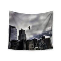 """Sylvia Cook """"Seattle Skyline"""" City Clouds Wall Tapestry"""