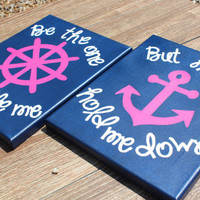 Hand Painted Canvas - Set of 2 - Be the One to guide me