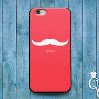 iPhone 4 4s 5 5s 5c 6 6s plus + iPod Touch 4th 5th 6th Generation Funny Pink Mustache Quote Spiffy Phone Case Cool Cute Fun Custom Hip Cover